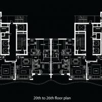 DAMAC Tower с интерьерами от Versace Home by DAMAC - Floor Plan