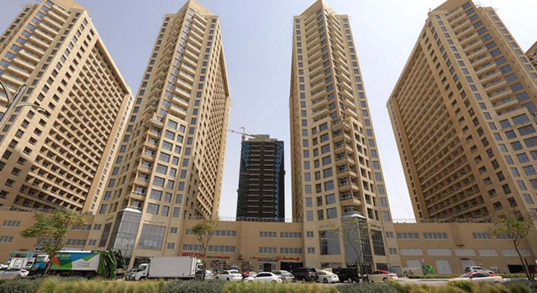 DAMAC Lakeside apartments towers in Dubai Production City